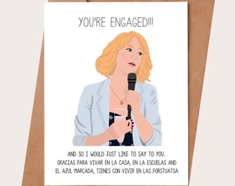 Funny Engagement Card - Bridesmaids movie engagement card - Engagement gift - Engagement party - Bridesmaids card