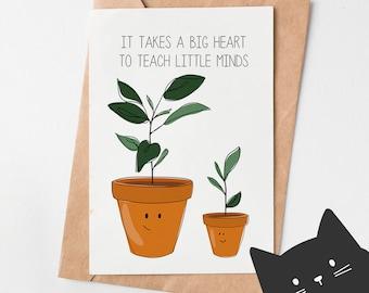 Teacher Appreciation Gift - Teacher Appreciation Card - Teacher Greeting Card - Teacher Thank You Cards - Teacher Graduation Card