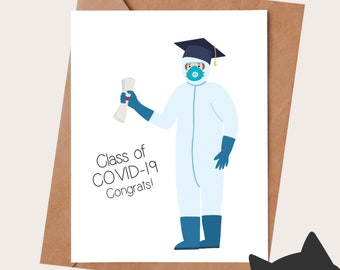 Funny graduation card - Graduation gift - Class of Covid 19