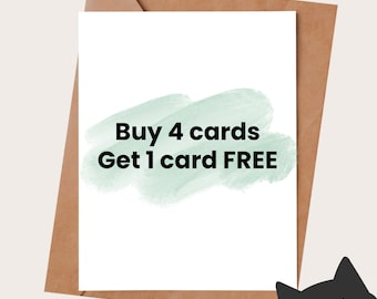 Buy 4 greeting cards, get 1 free card - Funny Cards - Funny Birthday Card for him - Anniversary card