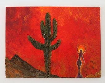 Desert Sunset Painting