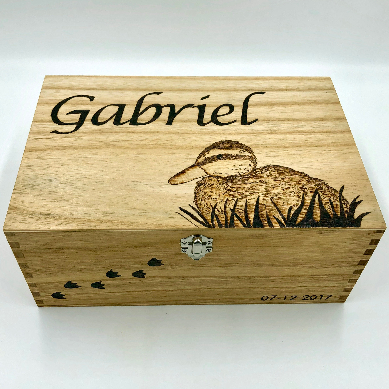 Christening Box With Animal Memory Box Keepsake Box Etsy