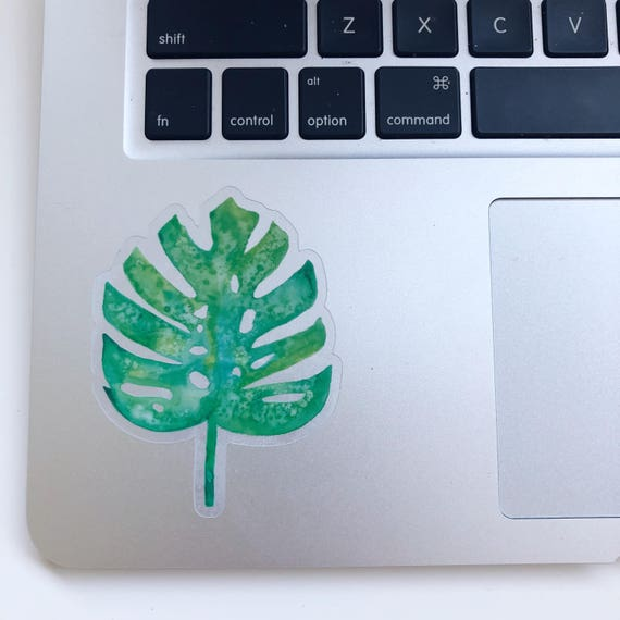 Transparent Monstera Leaf Sticker Etsy