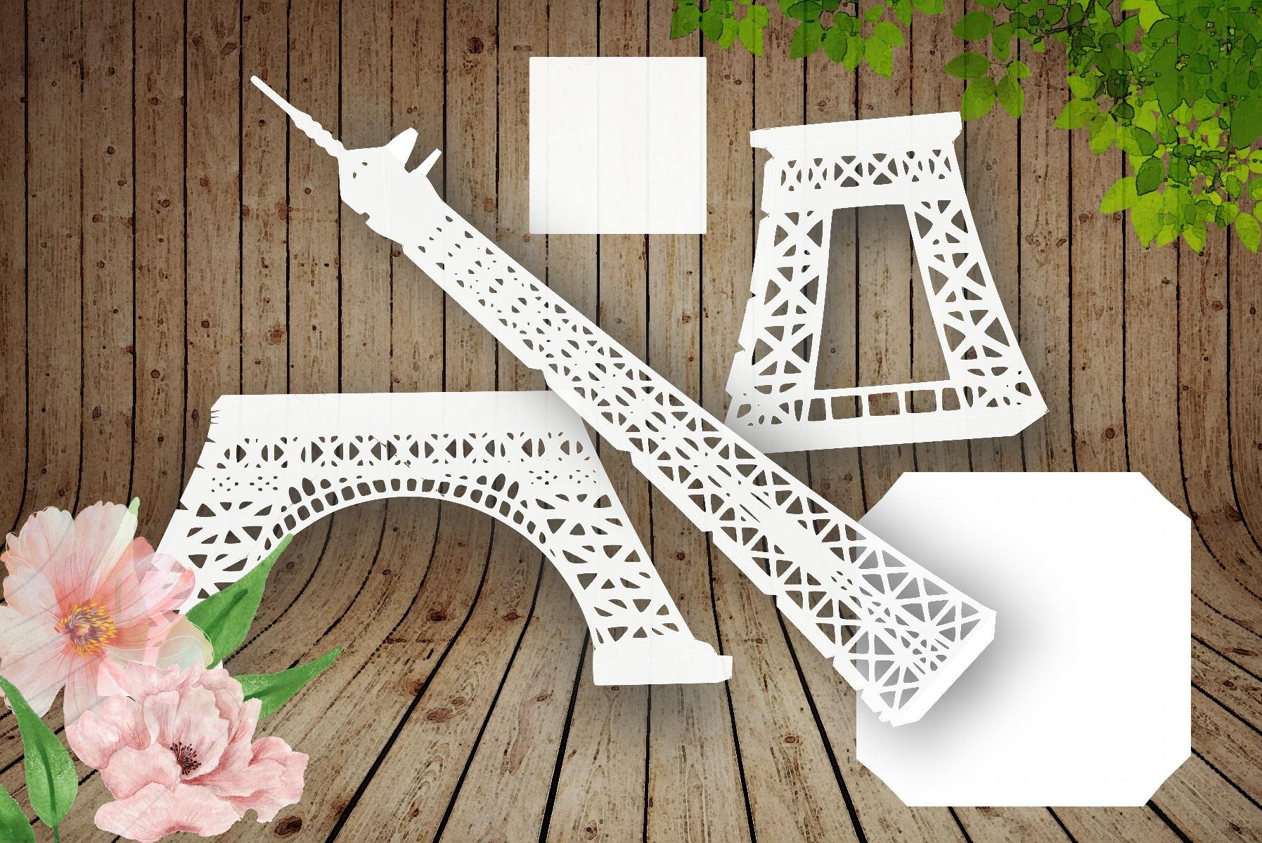 tower eiffel paris 3d template cutting svg dxf pdf. Black Bedroom Furniture Sets. Home Design Ideas