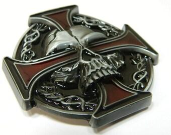 Cross   tête de mort métal ceinture boucle - Mens spécialité boucles de  ceinture en métal - motards stylisé boucle de ceinture tête de mort - boucles  de ... e35997f8c44