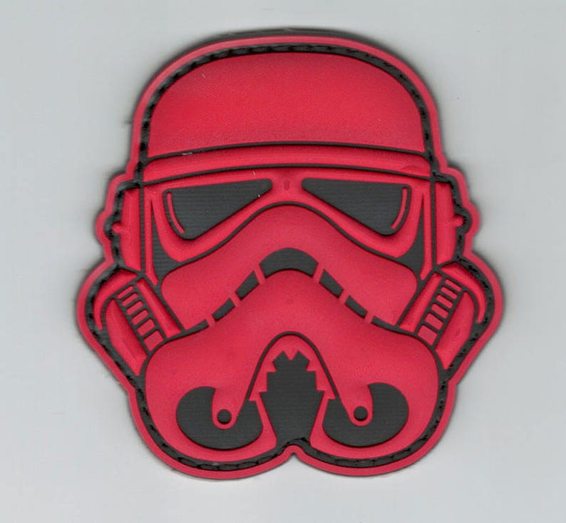 Storm Trooper Helmet Mask Star Wars Iron On Embroidered Jacket Patch Badge