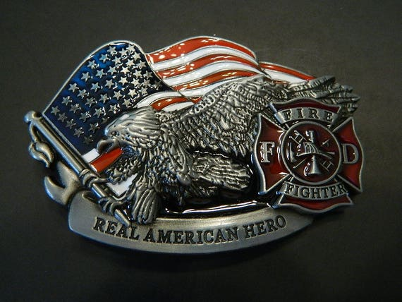 Metal Firefighter FD Logo Belt Buckle Men/'s//Women Fashion Fire Dept Fireman Gift