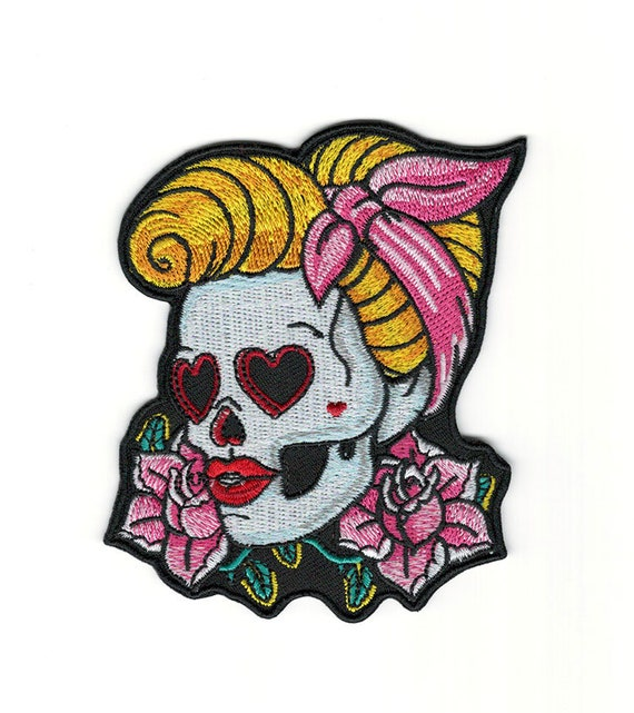 Patch embroidered iron on cloth badges kawaii biker men/'s hat panama applique