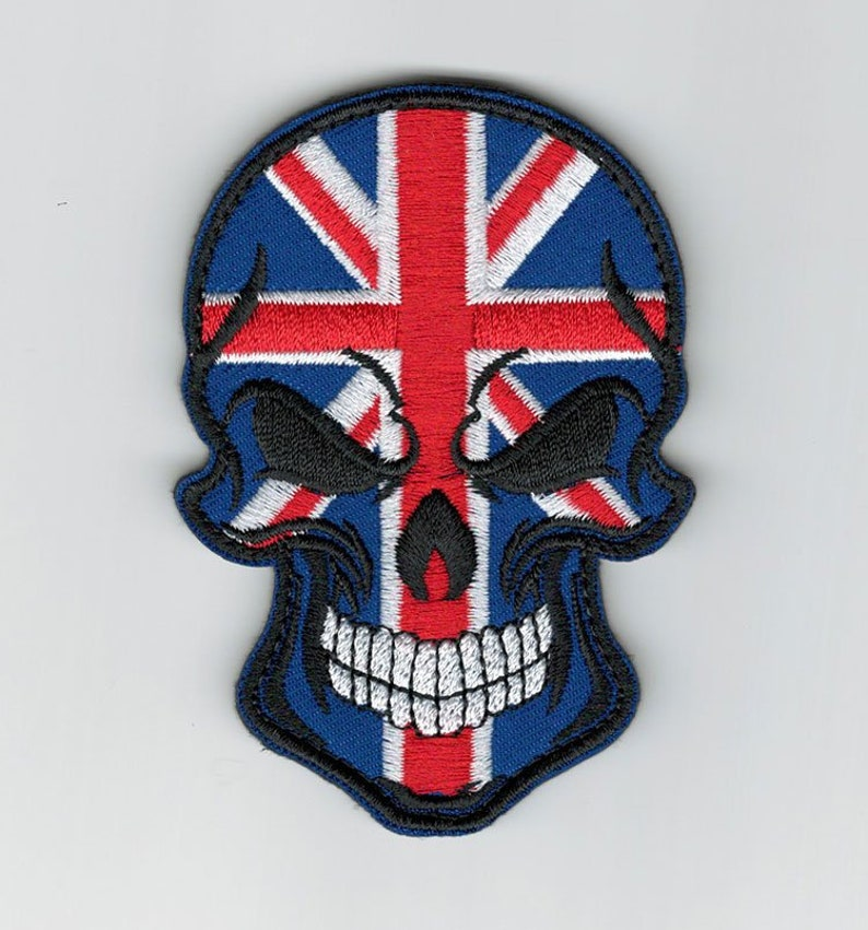 Embroidery US Skull Tactical Military Morale Badge Reflective IR Hook Loop Patch