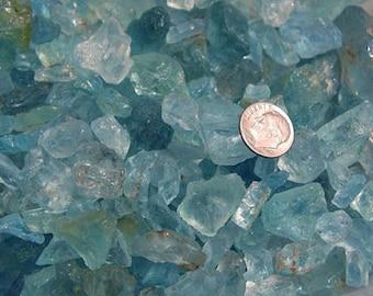 Aquamarine crystal mixed gem grade sky blue Brazil 100 carat lots