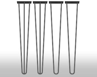 4x Hairpin Table Legs 70 cm Haarnadelbeine Mid Century 71 72 28''