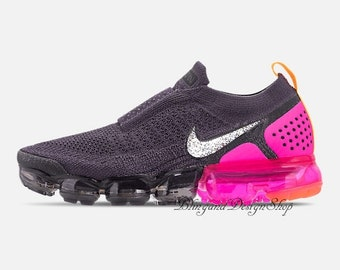 ... good out x 1fb74 b876b Swarovski Bling Nike Vapormax Flyknit Moc 2  Womens Nike Shoes Customized ...
