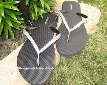 Swarovski Sandals Women s Flip Flops Customized with Crystal Rhinestones 2de742df2f51