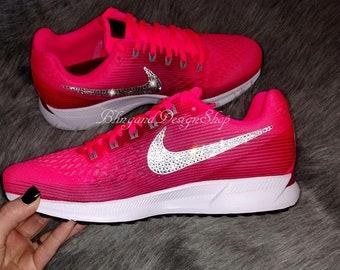 Swarovski Bling Nike Air Zoom Pegasus 34 Women s Nike Shoes Customized with  Swarovski Crystal Rhinestones a433e7a4b6c5