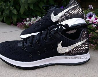 Swarovski Nike Womens Air Zoom Pegasus 33 Customized with Crystals Bling  Nike Shoes 0490abd8fd