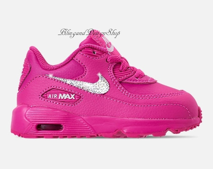 02daaeb185a2 Swarovski Baby Nike Air Max 90 Girls Nike Shoes Custom with Swarovski  Crystal Rhinestones