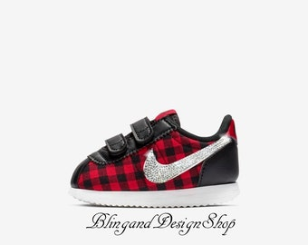 4e05df70895e Bling Toddler Swarovski Nike Cortez Basic TXT SE Customized with Swarovski  Crystal Rhinestones Bling Nike