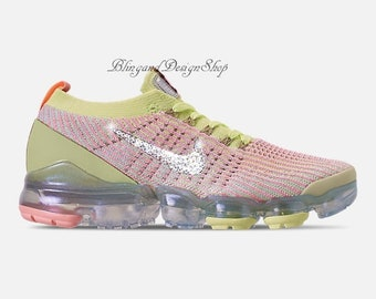 2f964b980bf1 Swarovski Nike Shoes Vapormax Flyknit 3 Women s Shoes Customized with  Crystal Swarovski Rhinestones Bling Nike Shoes