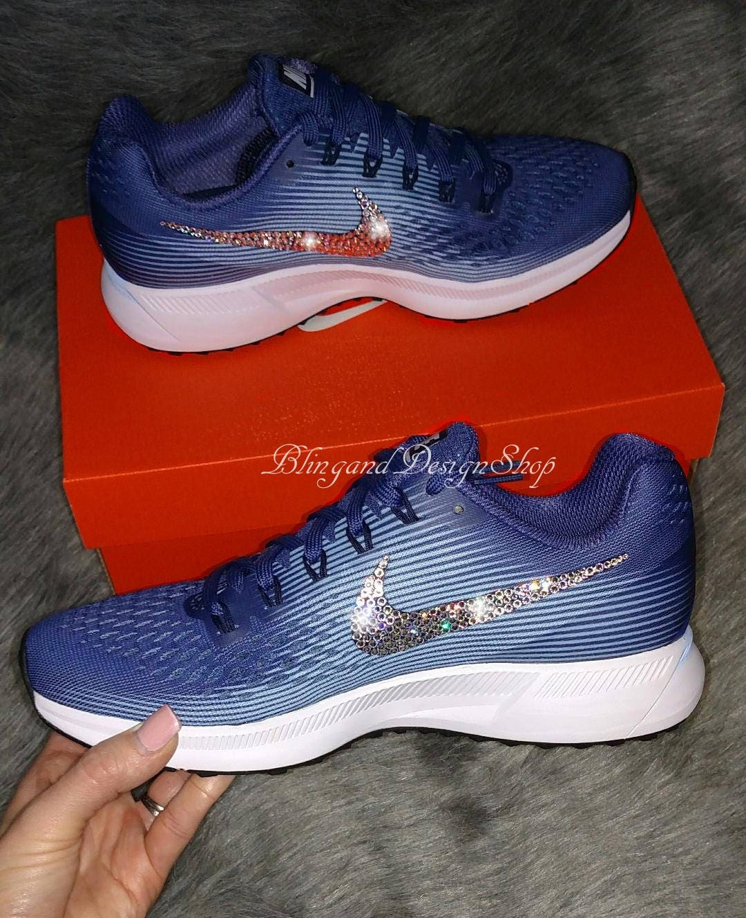 6e0f51c1b897 Swarovski Bling Nike Air Zoom Pegasus 34 Women s Nike Shoes Custom with Crystal  Swarovski Rhinestones