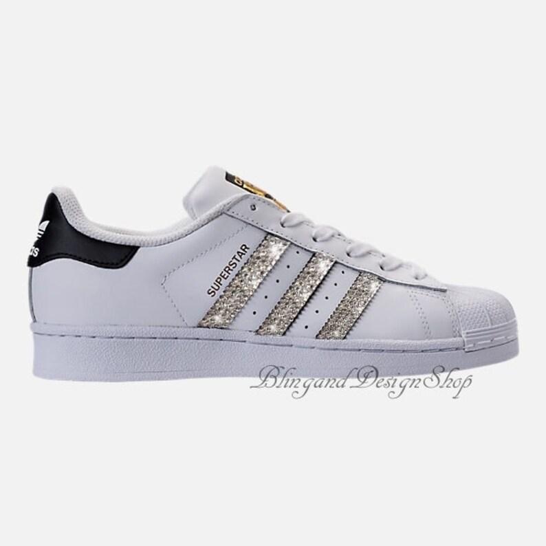9370080a3e43 Swarovski Bling Adidas Women s Originals Superstar Casual