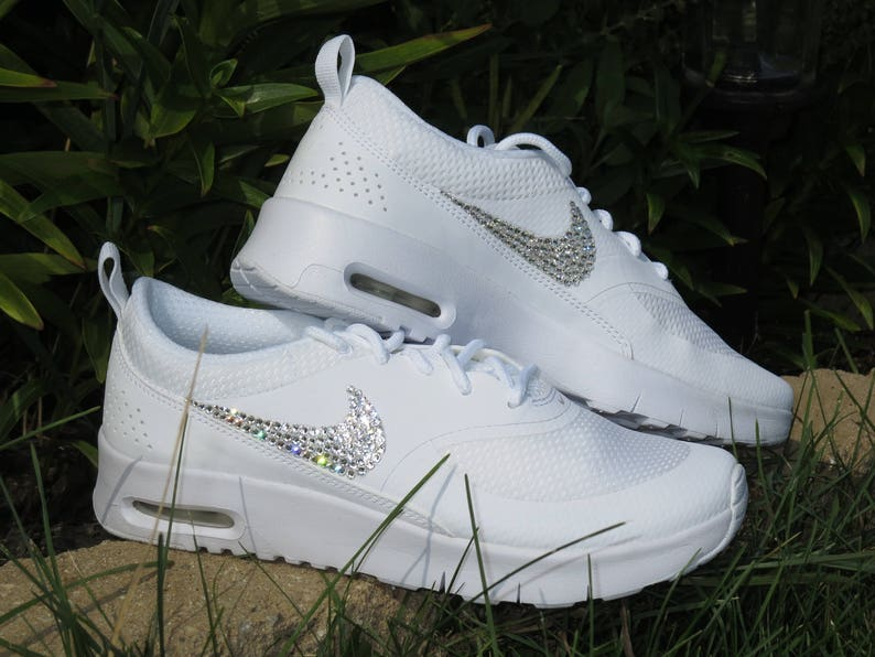 reputable site 7b15c 06341 Swarovski Nike Air Max Thea Girls Nike Shoes Custom with   Etsy
