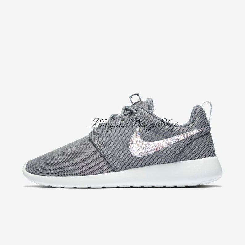 buy online 24205 fd4c6 Swarovski NikeShoes Roshe One Womens Shoes Customized with   Etsy