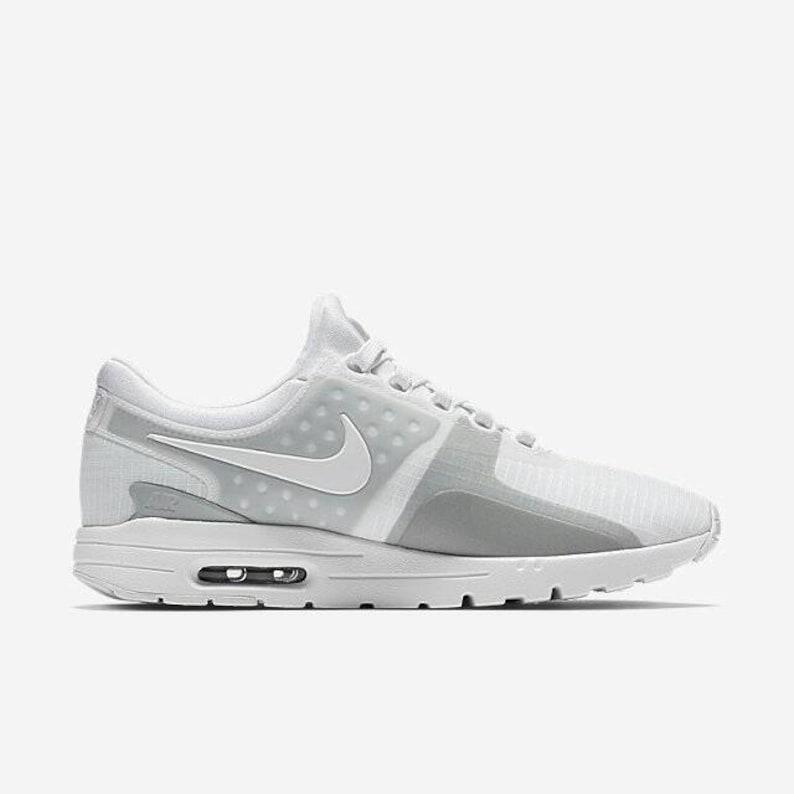 buy popular add87 5a4a7 Swarovski Nike Shoes Women s White Nike Air Max Zero SI   Etsy