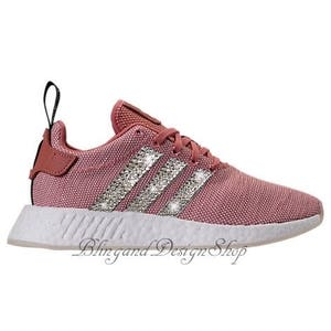 Swarovski Bling Adidas NMD R2 Women s Adidas Shoes Custom with Swarovski  Crystal Rhinestones 34de0256632e