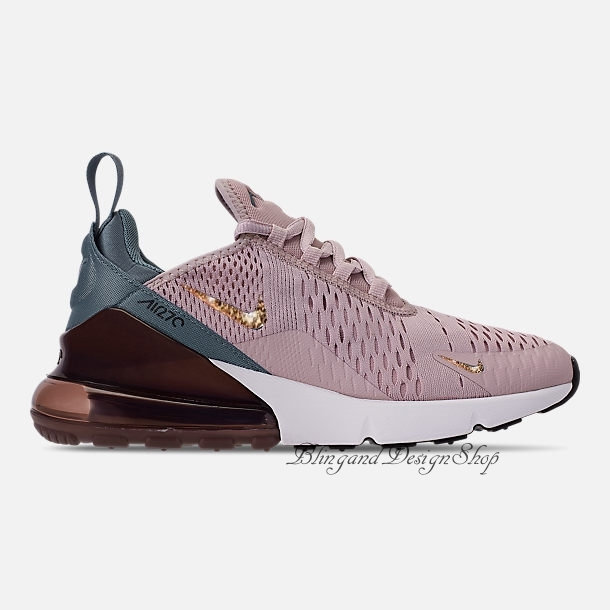 Swarovski Bling Nike Women s Air Max 270 Shoes with Crystal Rhinestones  Custom Running Tennis Shoes Authentic New in Box 123eccd05f