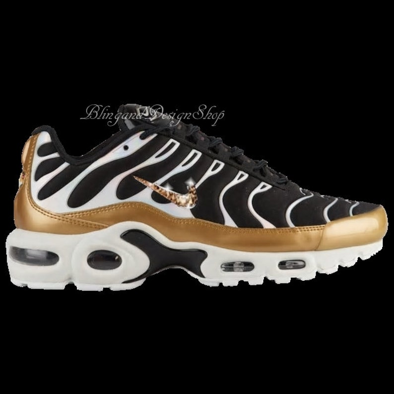 new products 622ce 80cc6 Swarovski Nike Air Max Plus Custom with Rose Gold Swarovski Crystals Bling  Nike Shoes, Bridal Sneakers