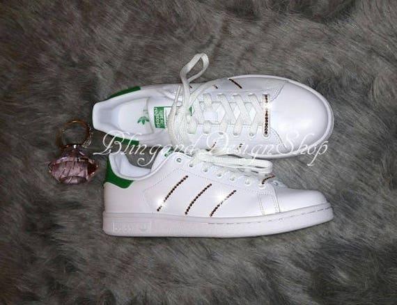 Swarovski Bling Adidas Shoes Stan Smith Women s Shoes  dab283811c9