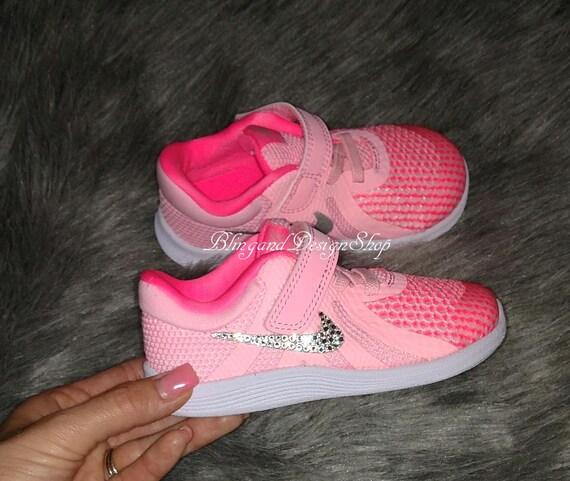 48b0c088fc067 Swarovski Bling Nike Revolution 4 Girls Nike Shoes Custom with