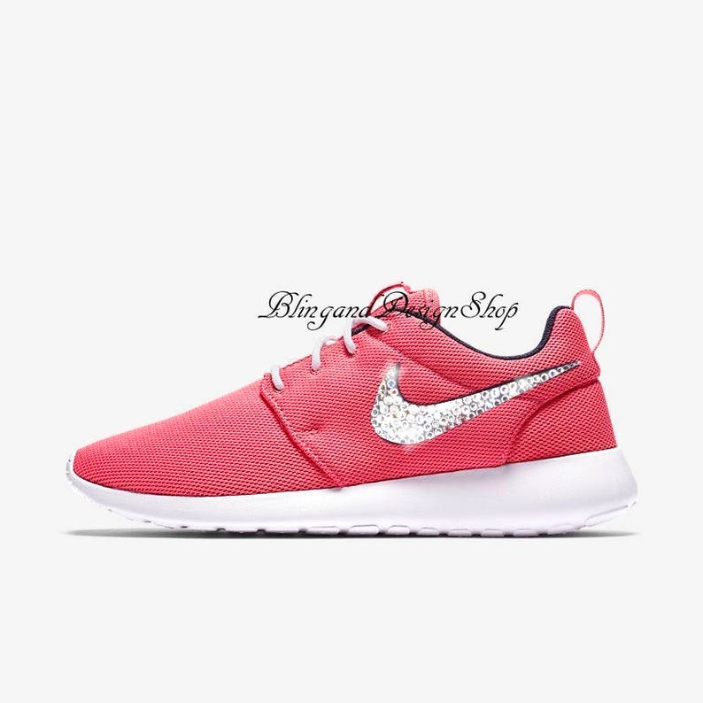 24c1e4b7d1884 Swarovski Nike Shoes Roshe One Womens Shoes Custom with