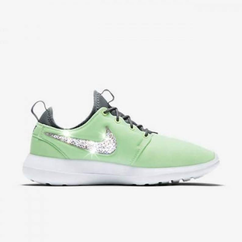 49d45a454d9a Swarovski Nike Shoes Women s Nike Roshe Two Green Shoe