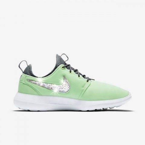 Chicle Municipios río  Swarovski Womens Nike Roshe Two Mint Green Sneakers Customized ...