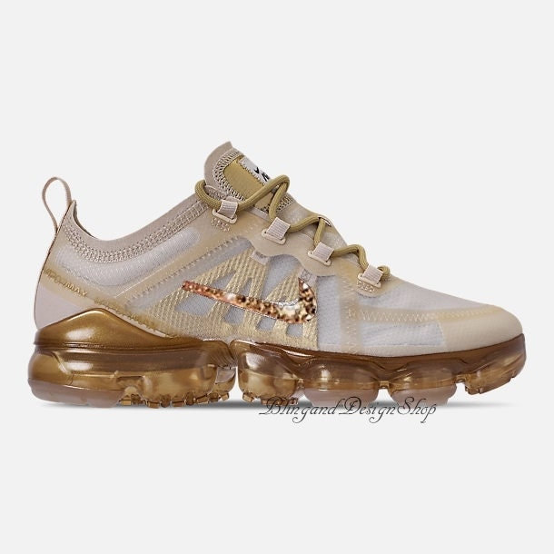 Swarovski Bling Nike Air Max 2019 Gold Shoes Custom with Rose Gold Swarovski  Crystals Bling Nike Shoes 1d1059a96