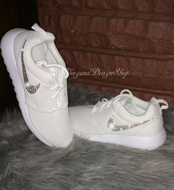 064e57aa41f74 Swarovski Bling Nike Roshe One Women s Nike Shoes