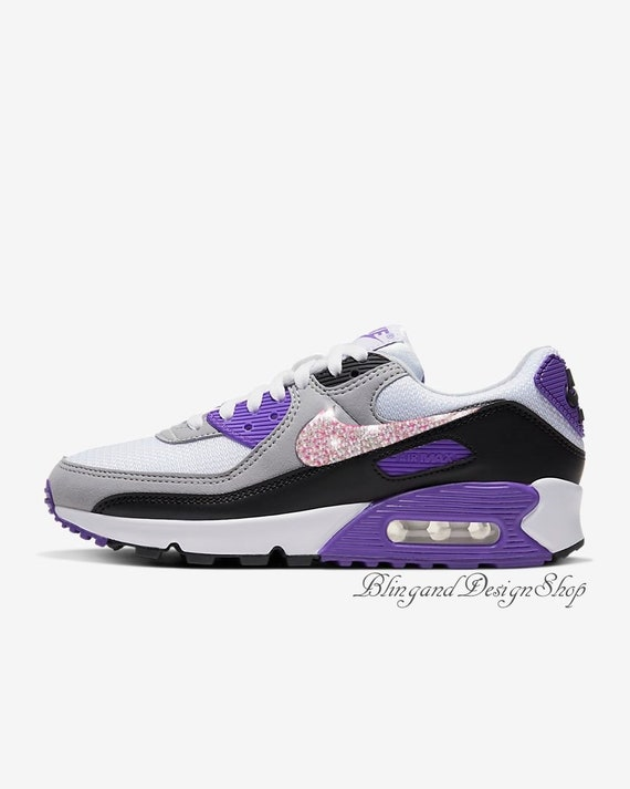 Swarovski Womens Nike Air Max 90 Purple