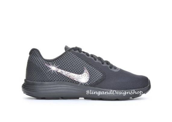 Swarovski Nike Shoes Women s Nike Revolution 3 Black Shoe  dec7f3f30