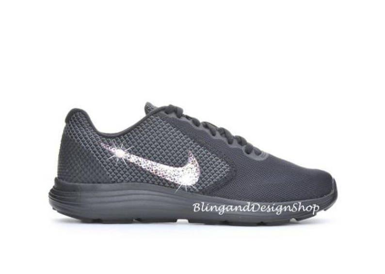 Swarovski Nike Shoes Women s Nike Revolution 3 Black Shoe  2632c6e0b