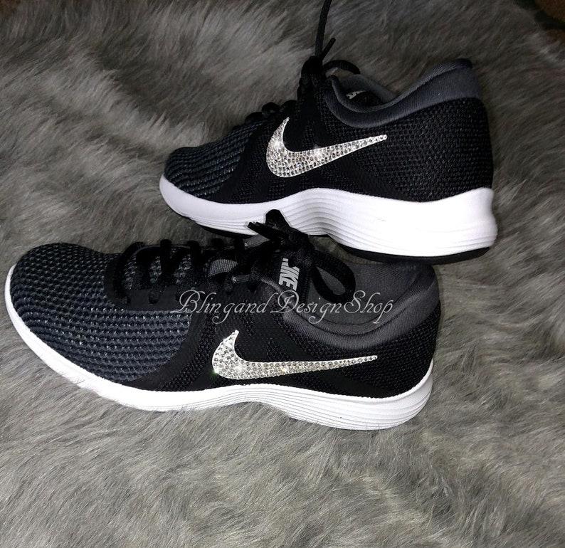 276f5030e5546 Swarovski Nike Women's Revolution 4 Custom with Swarovski Crystals, Bling  Nike Shoes