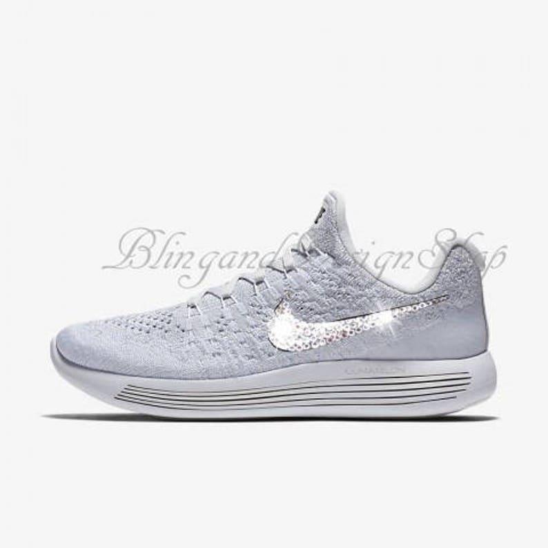 fd74b00d1c87a Swarovski Nike Shoes Lunarepic Low Flyknit 2 Women's Nike Shoes Custom with  Crystal Rhinestones Bling Nike Shoes