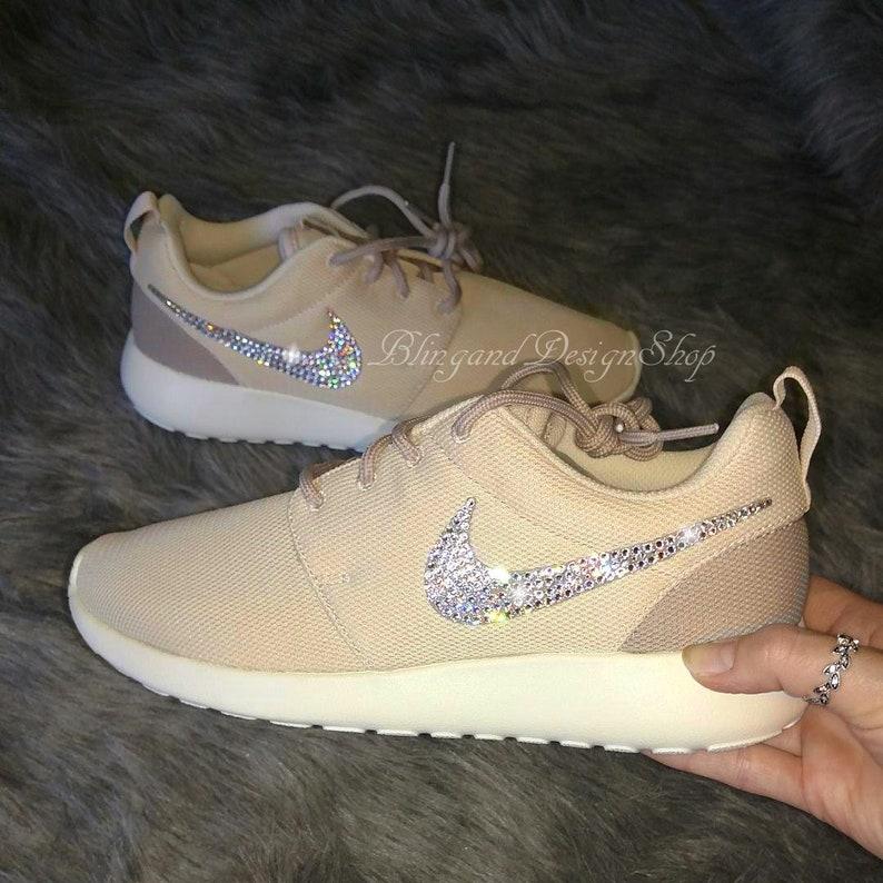 brand new ff9da be72a Swarovski Bling Nike Roshe One Women's Nike Shoes Custom with Swarovski  Crystal Rhinestones, Bridal shoes