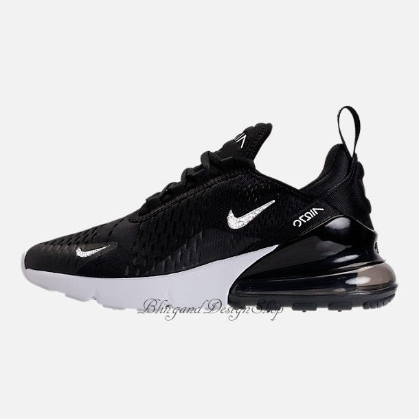 Swarovski Bling Nike Women s Air Max 270 Shoes with Crystal Rhinestones  Custom Running Tennis Shoes Authentic New in Box Bling Nike Shoes 3a07da5fd7