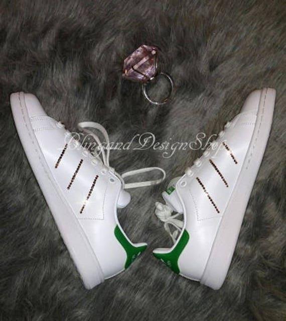 Prematuro capitán Botánico  Swarovski Adidas Womens Stan Smith Customized with Rose Gold | Etsy