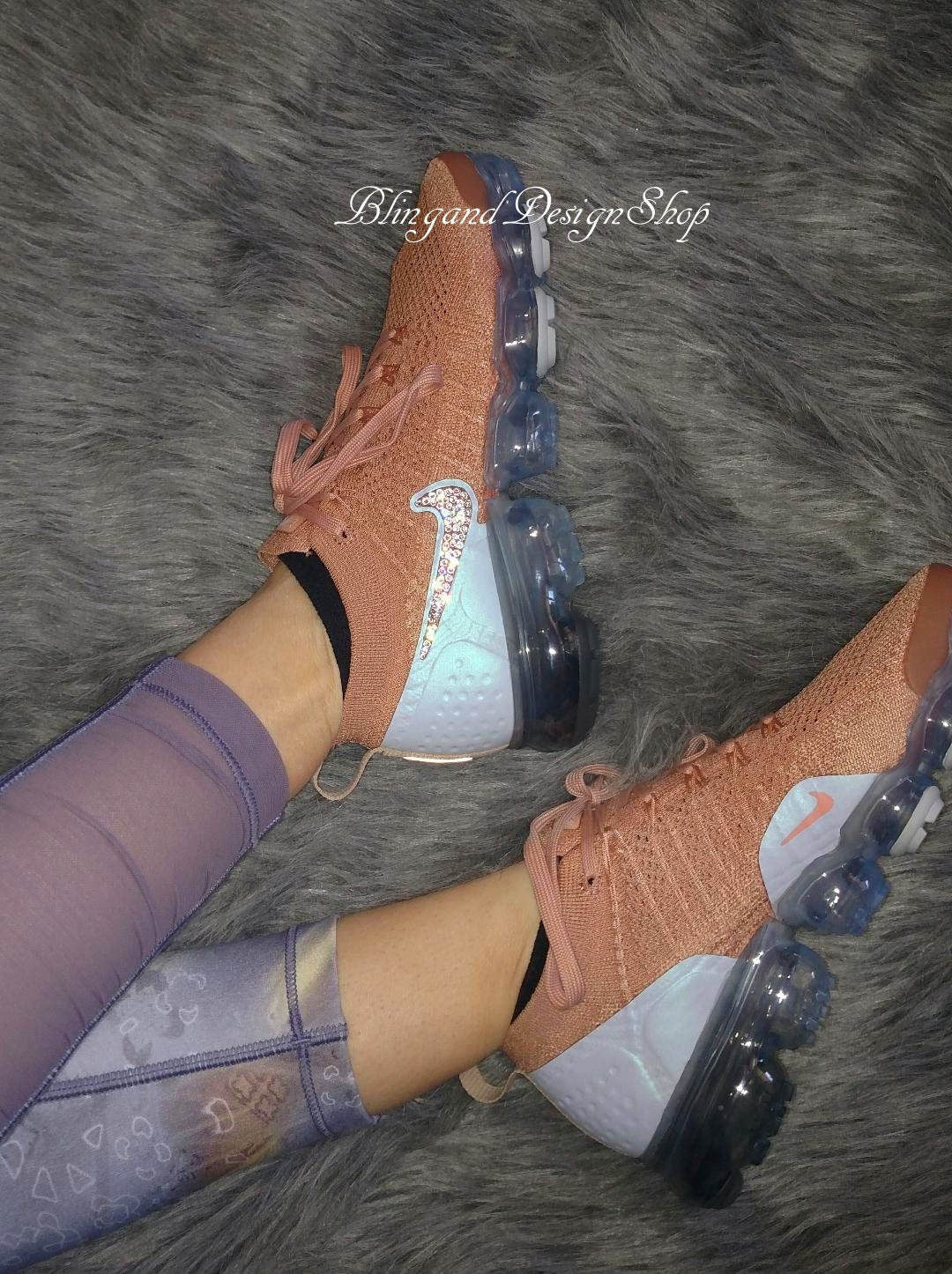 f5854c62ee6fa Swarovski Nike Shoes Air Vapormax Flyknit 2 Womens Shoes Customized ...