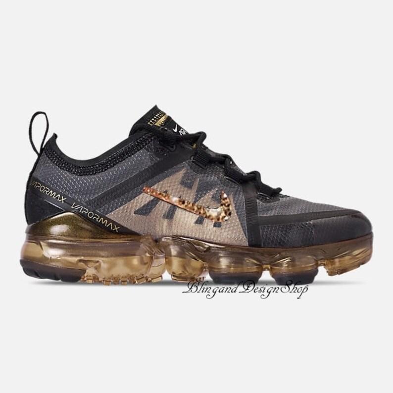 7d553b824565 Swarovski Bling Girls Womens Nike Air Max 2019 Gold Shoes