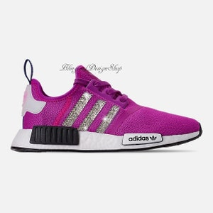 013fca1e0eed0 Swarovski Adidas Womens NMD R1 Casual Shoes Blinged with Swarovski ...