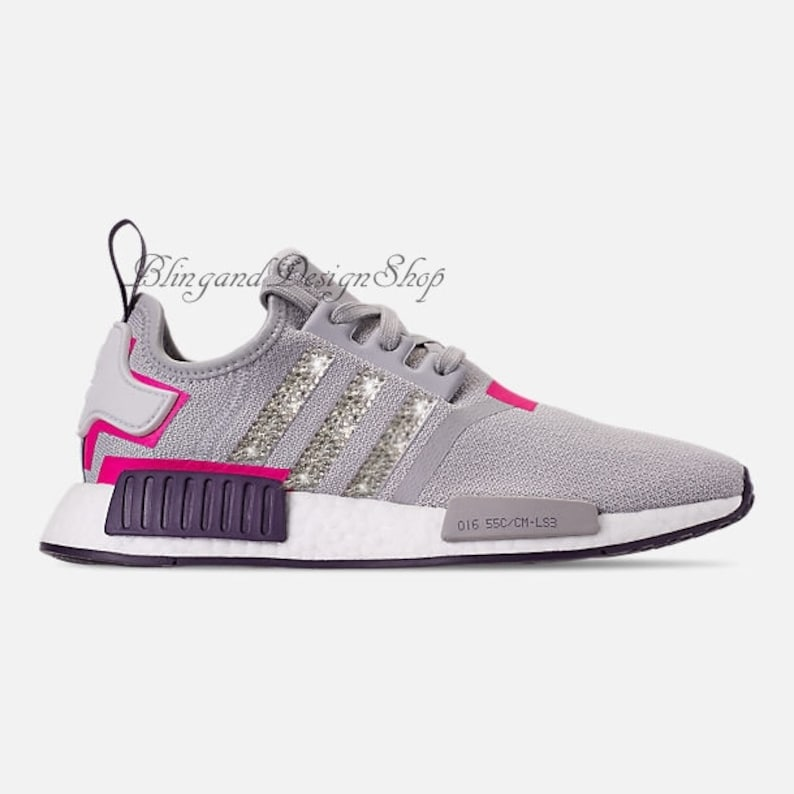 competitive price 84bcc 8d5cd Swarovski Bling Adidas Women s Adidas NMD R1 Custom with   Etsy
