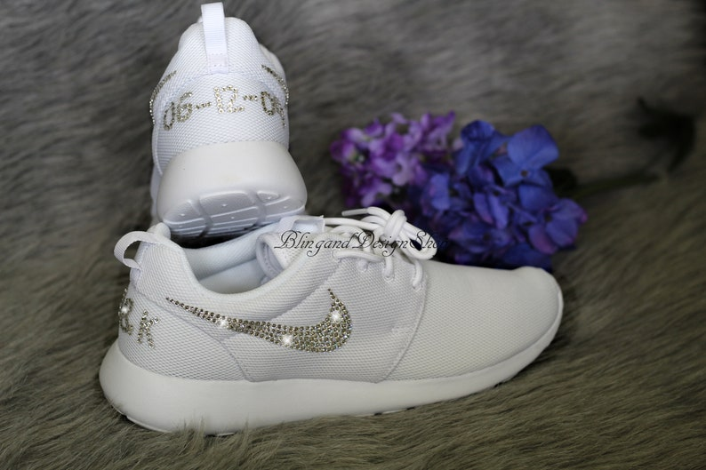 e2265f5da0ca3 Bling Women's Swarovski Nike Roshe One Customized with Swarovski Crystals,  Bling Nike Shoes
